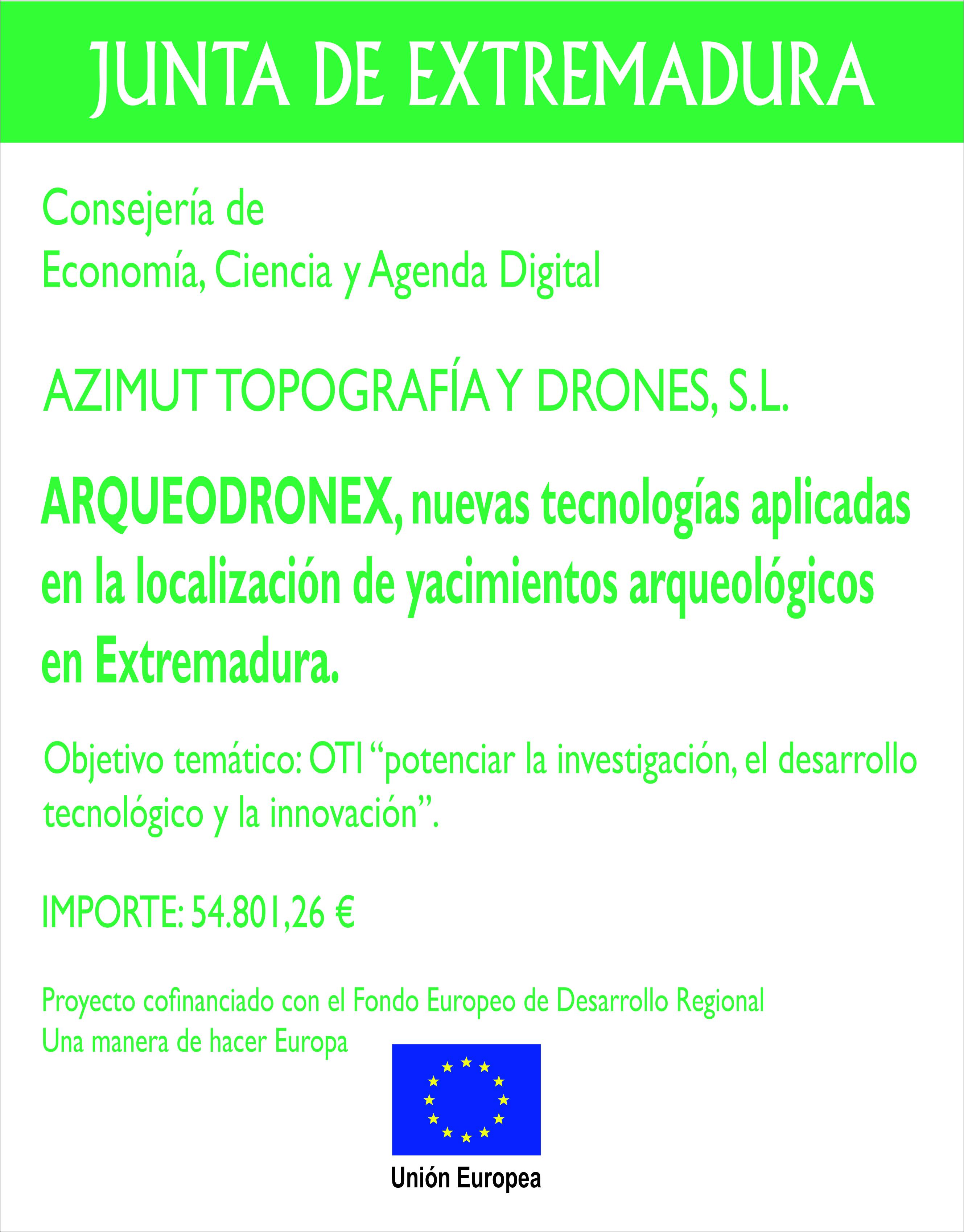DISEÑO CARTEL AZIMUT ARQUEODRONEX MODELO 1